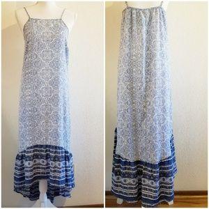 Blue Knox Rose Boho Maxi Sundress Size Medium